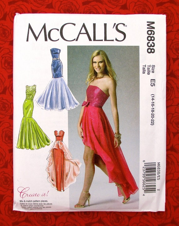 McCall\'s Sewing Pattern M6838 Formal Flounce Gowns   Etsy