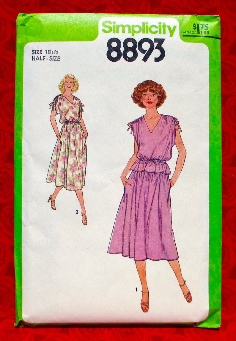 Simplicity Sewing Pattern 8893 Pullover V-Neck Dress Top & image 0
