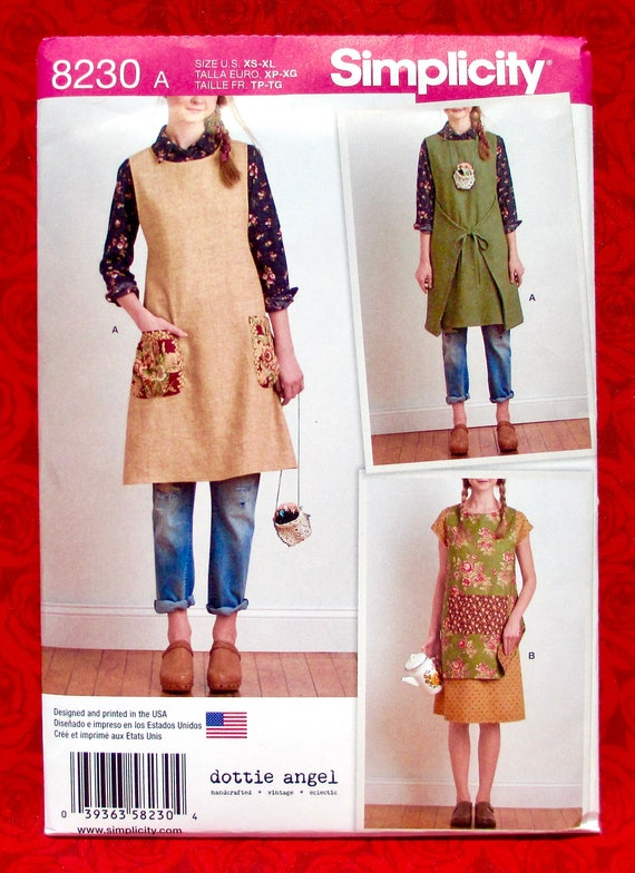 Simplicity Creative Patterns Simplicity Pattern 8230 Misses Dottie Angel Reversible Apron Dress and Tabard