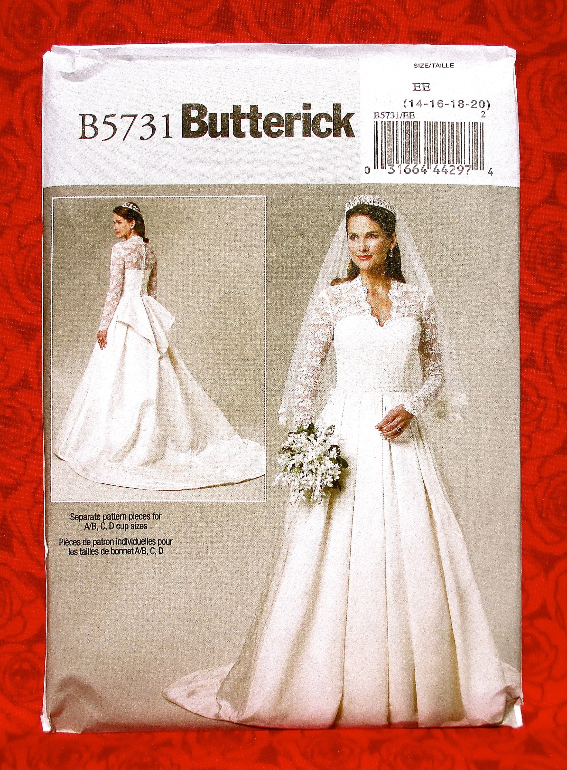 Butterick Sewing Pattern B5731 Bridal Gown Royal Wedding | Etsy