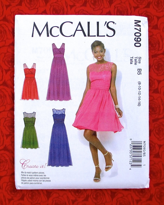 Mccalls Sewing Pattern M7090 Special Occasion Dress Etsy