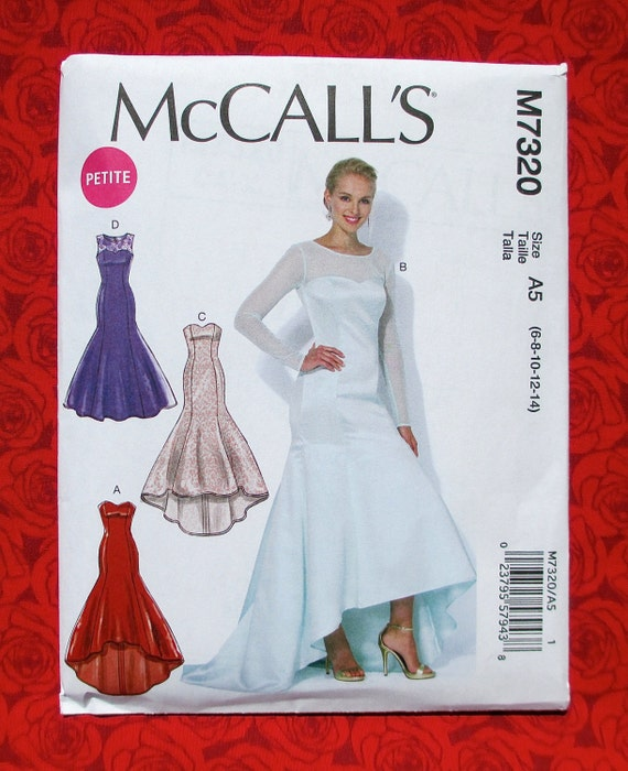 Mccalls Sewing Pattern M7320 Formal Gown Long Evening Etsy