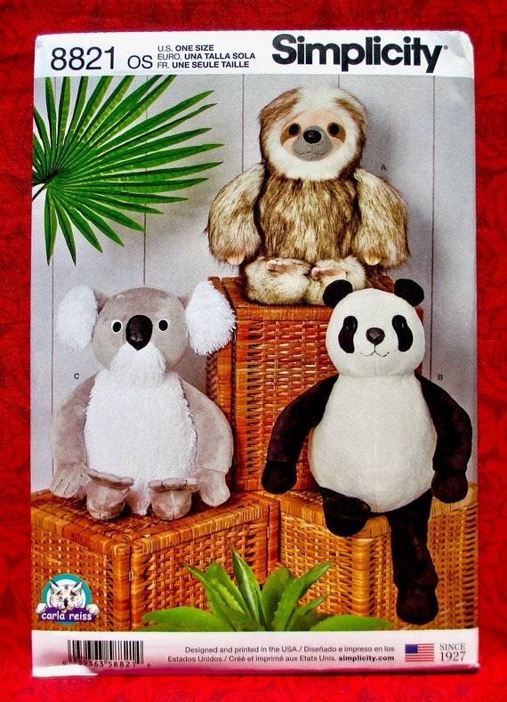 panda jouet doux motif de couture par pcbangles Le bambou