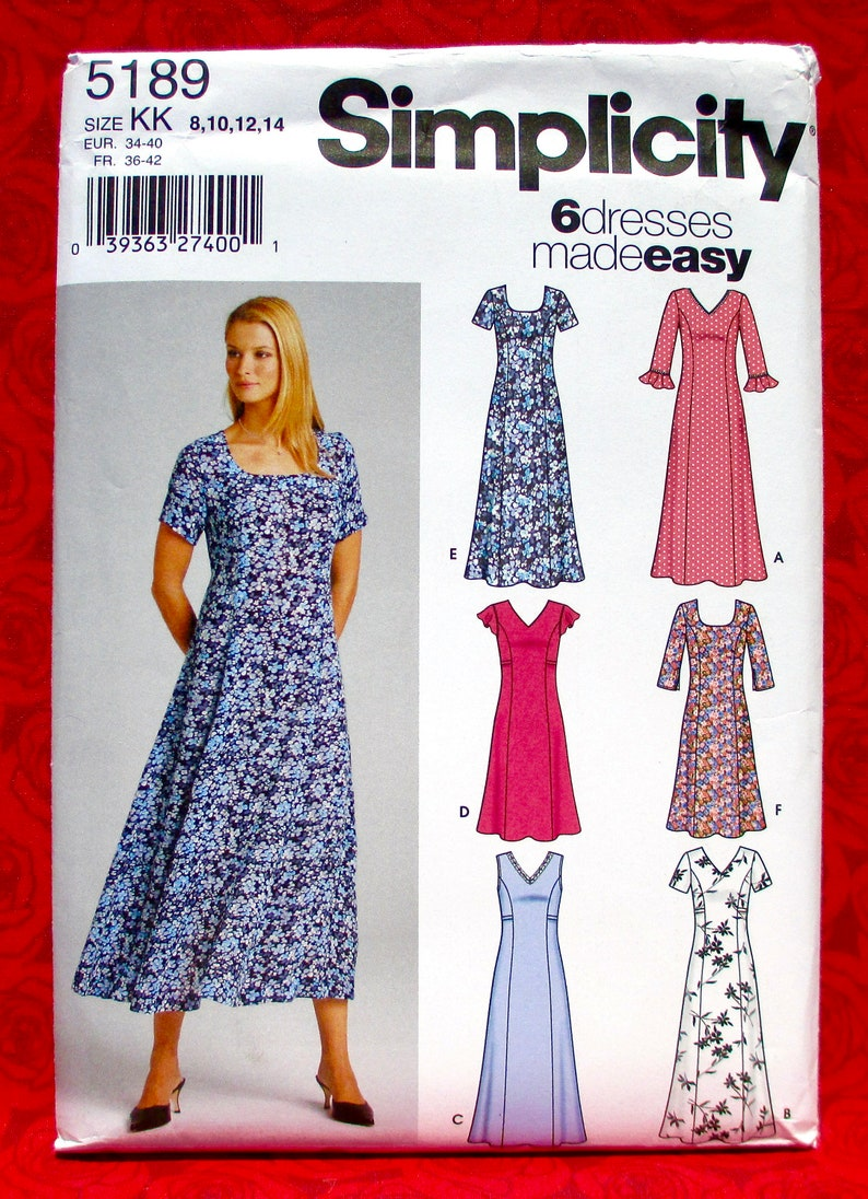 Simplicity Easy Sewing Pattern 5189 Princess Seam Pullover image 0