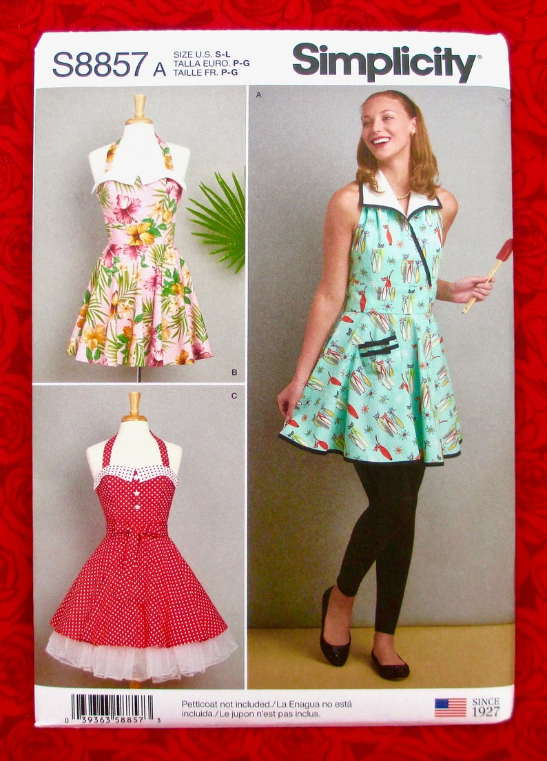 Simplicity Sewing Pattern S8857 Pinafore Halter Aprons image 0