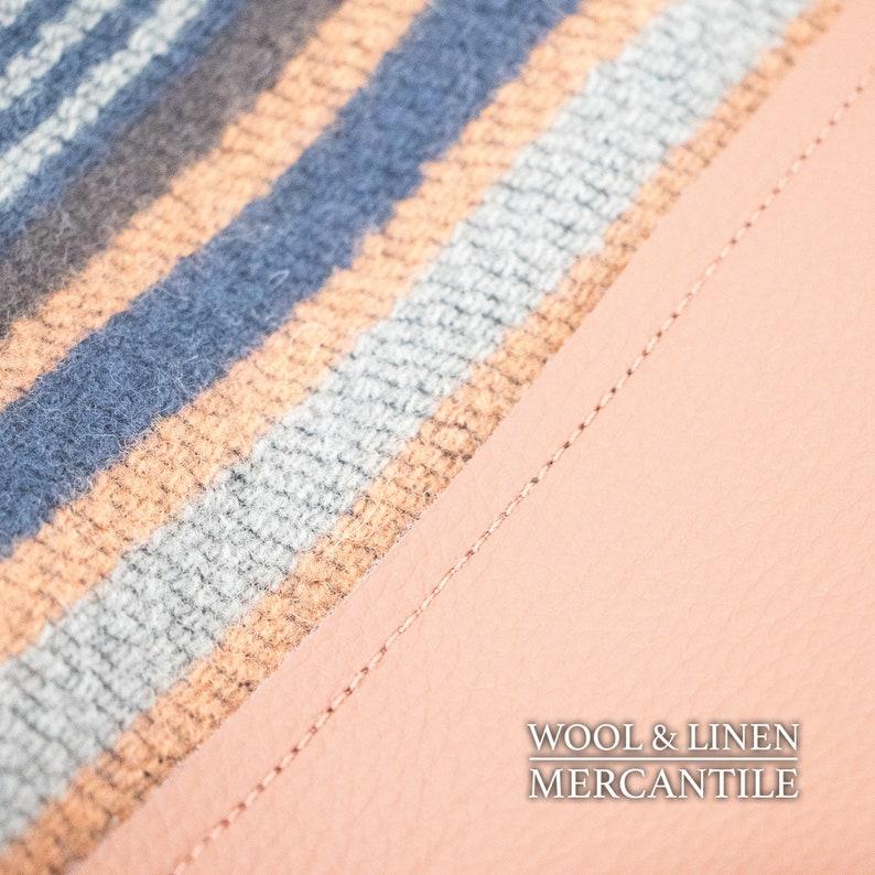 Camel Leather Bottom Pendletons Chimayo Blanket Leather Bottom Tote made with Pendleton Wool