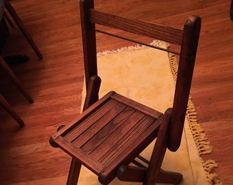 PRICE BREAK Vintage School Childrenu0027s Wooden Folding Chair - Antique Wood Slat Chair - Vintage Classroom Chair/Childrenu0027s Chair/Wooden Chair & Antique childs chair | Etsy