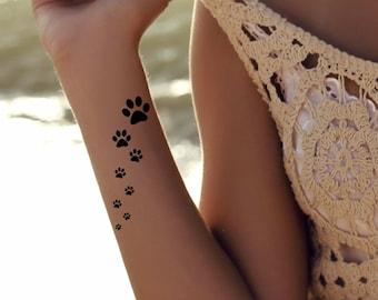 Dog Paw Tattoo Etsy