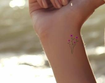 ee00c76594dd1 Daisy Temporary Tattoos 2 Dainty Flower Tattoos Waterproof