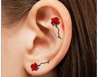 Small Rose Tattoo Etsy