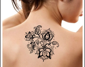Items Similar To Lotus Temporary Tattoo Somaarttattoo