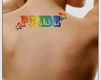 3200f4f863663 Temporary Tattoo Pride Waterproof Fake Tattoos Thin Durable