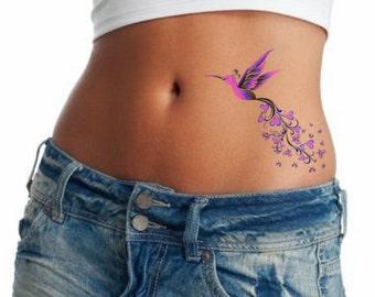 f504e1327d5ce Temporary Tattoo 1 Hummingbird Waterproof Realistic Fake Tattoos
