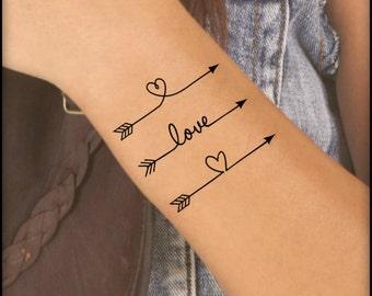 59b7f1fbfb578 Temporary Tattoo 3 Arrow Fake Tattoo Thin Durable Waterproof
