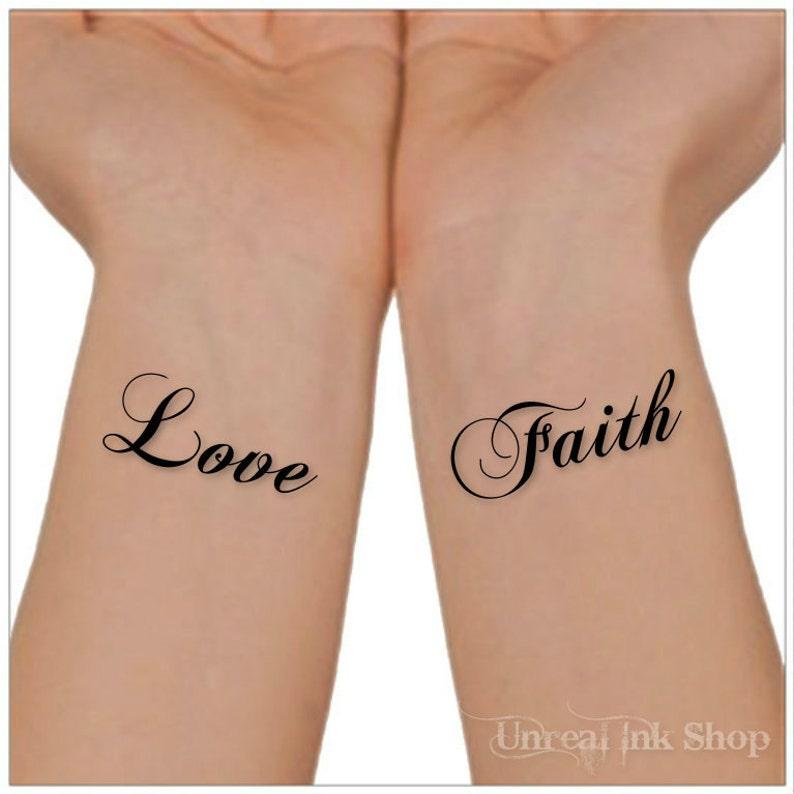 Super Tijdelijke Tattoo liefde geloof pols Tattoos   Etsy @CN37