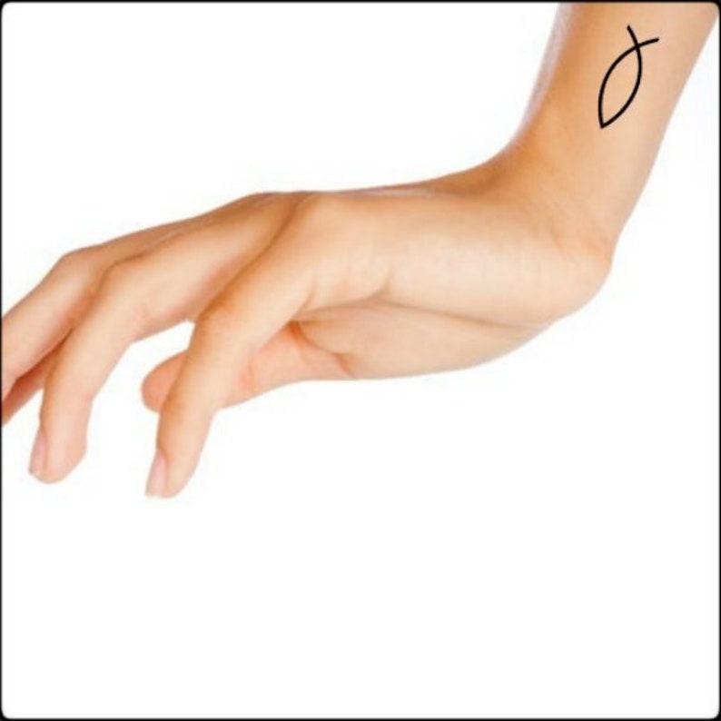 93d0003acb4a5 Temporary Tattoo 4 Fish Christian Symbol Waterproof Fake | Etsy