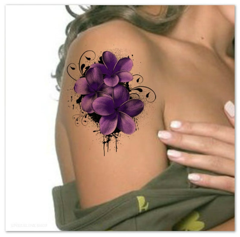 866767189 Temporary Tattoo Flower Waterproof Ultra Thin Realistic Fake   Etsy