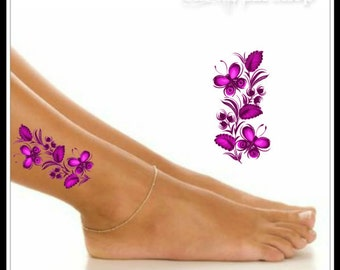 Butterfly Temporary Tattoo 1 Ankle Tattoos Wrist Tattoo