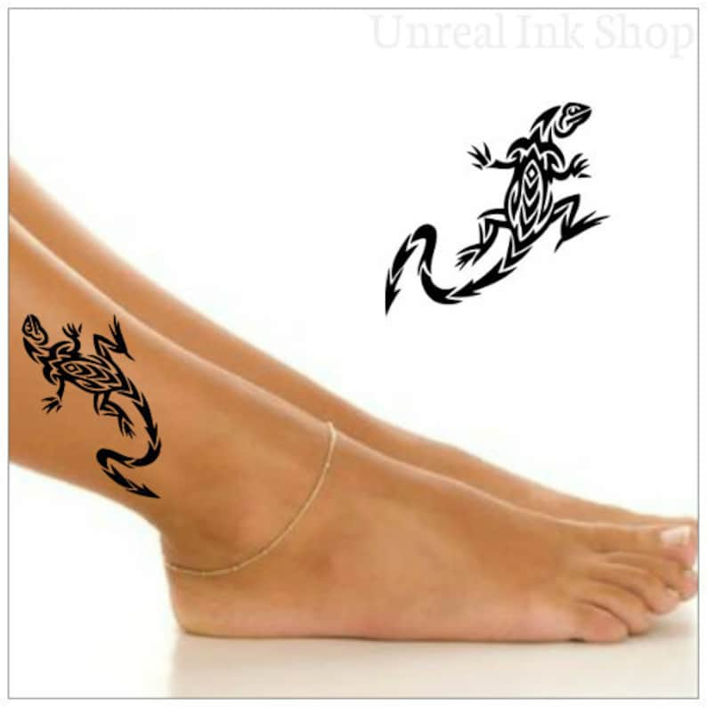 7b472bd13 Temporary Tattoo Tribal Lizard Waterproof Ultra Thin Realistic | Etsy