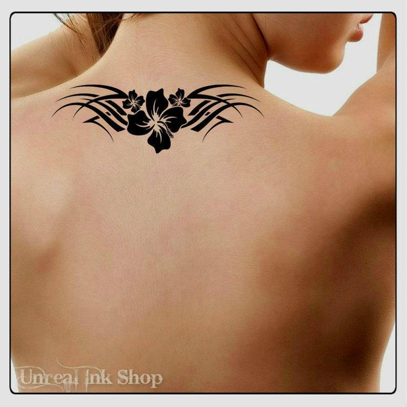 Temporary Tattoo Waterproof Flower Ultra Thin Realistic Fake | Etsy