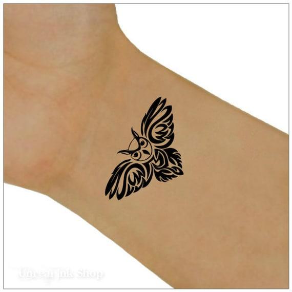 Eule Tätowierung 2 Handgelenk Tattoos Etsy