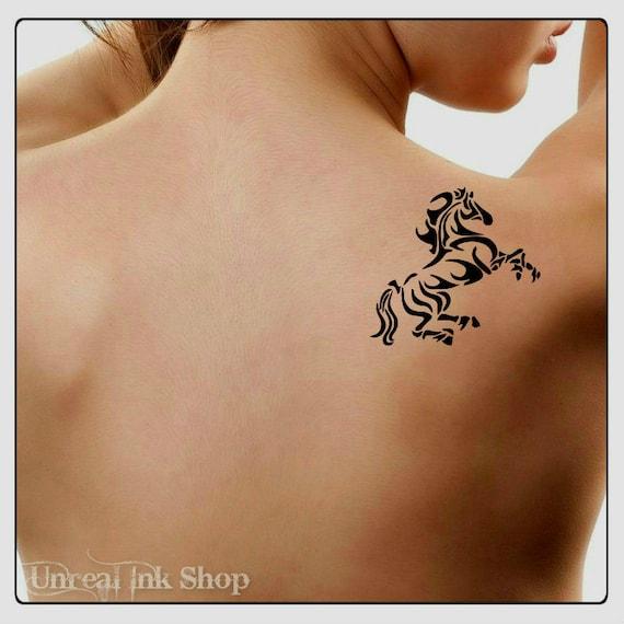 Tijdelijke Tattoo Paard Nep Tattoo Dun Duurzaam