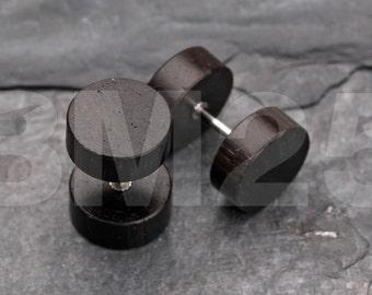 A Pair of Sono Wood Fake Plug