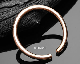 A Pair Of Solid Copper Hoop Ear Weight Hanger