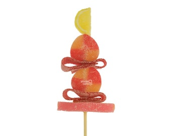 Peach Candy Kabobs 6 Pieces Individually Wrapped