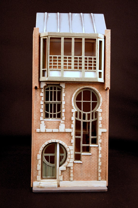 Lunar House Quarter 148th Scale Laser Cut Kit Model Miniature Dollhouse