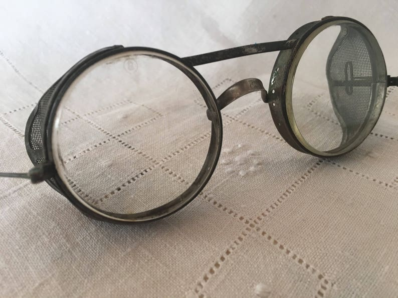 8c98f30ab0b Vintage Motorcycle Goggles Aviator Glasses 1950s