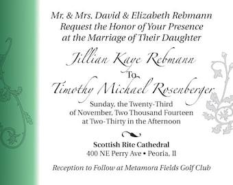 Fun Filigree Wedding Invitation
