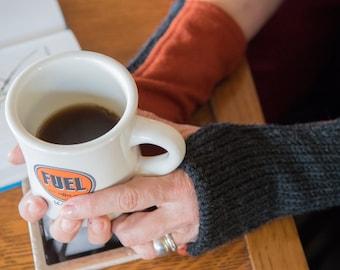 Wool Wrist Warmers for Women, Burnt Orange Fingerless Gloves, Cozy Winter Arm Warmers, Unique Gift under 40.