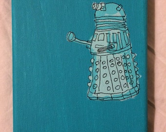 Dr Who Dalek Painting Blue