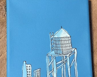 City Water Tower Painting