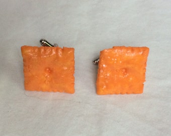 Cheez it Cheezit Cufflinks Orange