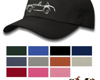 AC Shelby Cobra 427 SC - Lights of Art - Baseball Cap for Men & Women - Multiple Colors - Great Italian Classic Car Gift by Legend Lines