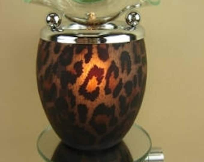 Leopard Pattern Oil Tart, Oil Burner, Plug In Oil Tart, Oil Warmer, Candle Tart Warmer, Oil Burner, Buy Electric Oil Burner