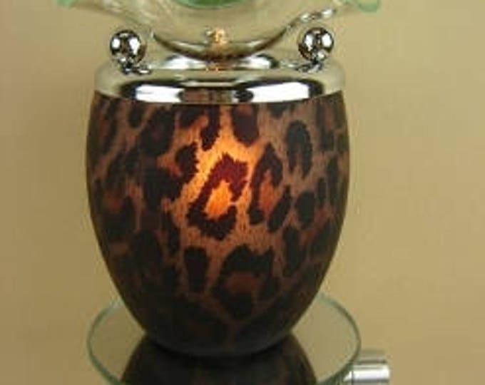 Leopard Pattern Oil Tart, Oil Burner, Plug In Oil Tart, Oil Warmer, Candle Tart Warmer, Oil Burner, Buy Electric Oil Burner