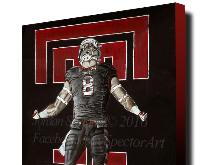 Temple Football - Temple University - Art Print - Temple Owls - Wall Art- Man Cave Art - Dorm Decor - Gift Ideas - Philadelphia Art