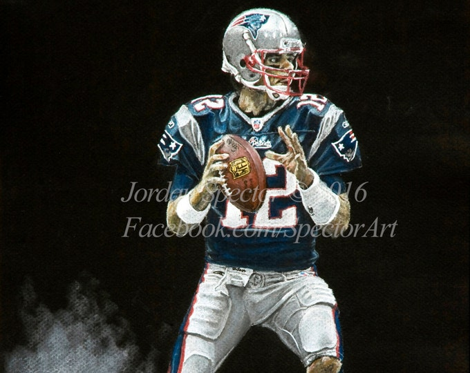 New England Patriot - Tom Brady  - Patriots Art - Patriots - Man Cave Art - Patriots Decor - Dorm Decor - Patriot Gifts - Gift Ideas