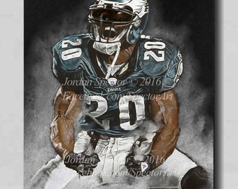 Brian Dawkins - Philadelphia Eagles - Canvas Print - Weapon X - Wall Art-  Man Cave - Eagles Decor - dorm decor - Eagles Gifts - Gift Idea 49c2e35a3