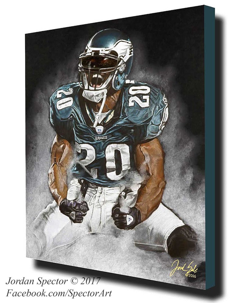 huge selection of 7440b 33105 Brian Dawkins - Philadelphia Eagles - Canvas Print - Weapon X - Wall Art-  Man Cave - Eagles Decor - dorm decor - Eagles Gifts - Gift Idea