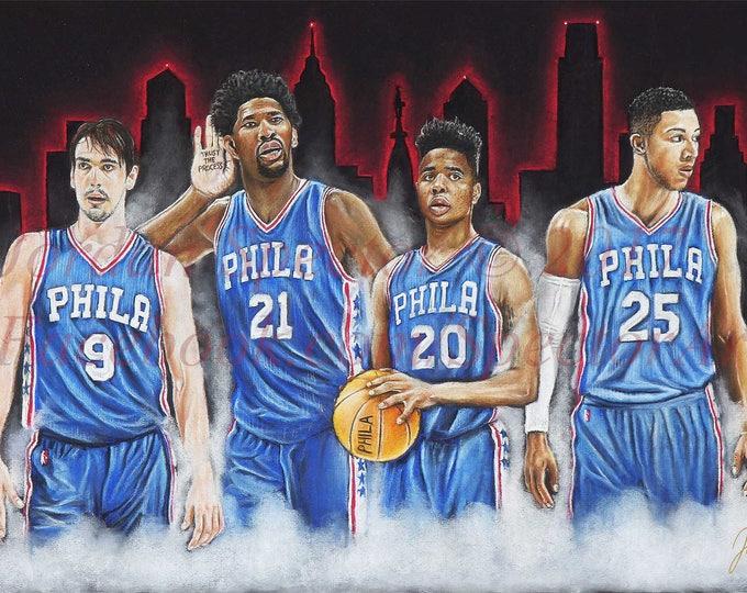 "Philadelphia 76ers ""THE PROCESS"" Open Edition Art Print"