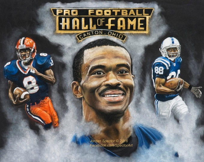 Indianapolis Colts - Marvin Harrison - Art Print - Hall of Fame - Wall Art- Man Cave - Colts Decor - dorm decor - Colts Gifts - Gift Idea
