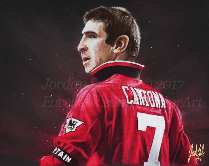 "Eric Cantona ""The King"" open edition art print - 16x20 inches"