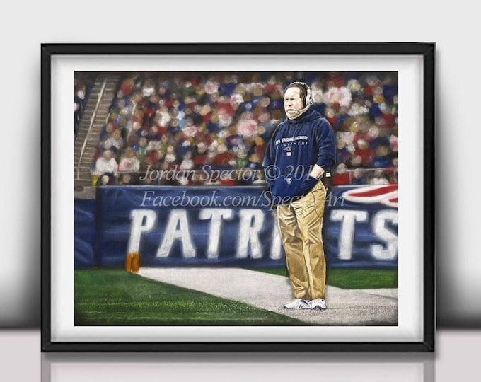 "Bill Belichick ""Winner"" Limited Edition art print - 20x24 inches"