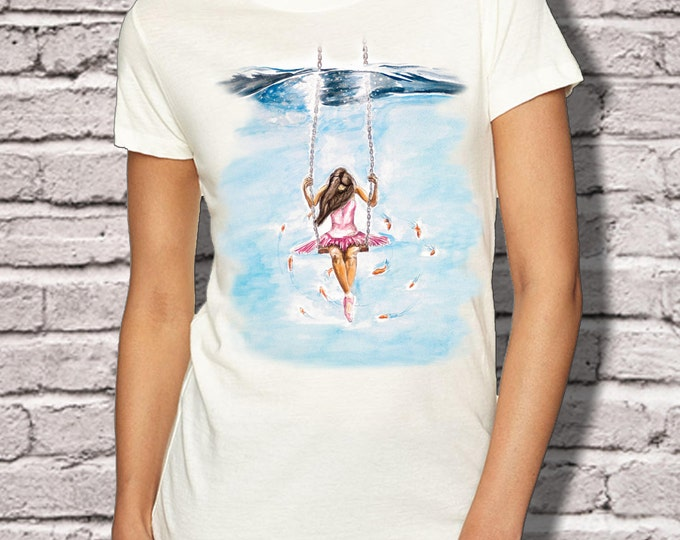 Pink Ballerina T Shirt - Pink Ballerina Art - Ballet T Shirt - SpectorArt - Unisex T Shirt - Philly Artist Print Tee Shirt - Pink Ballet