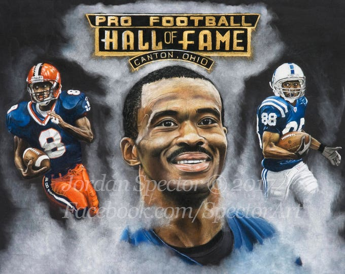 "Marvin Harrison ""Colts Finest"" open edition art print - 16x20 inches"