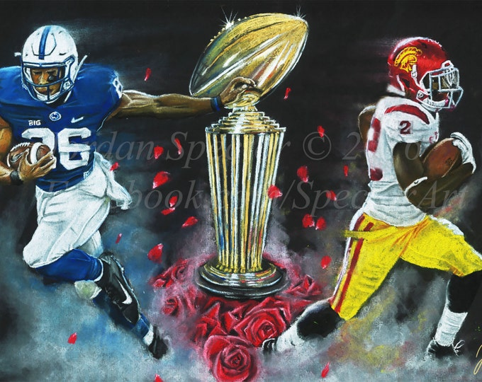 Rose Bowl - 2017 - Penn State - Art Print - USC - Trojans - PSU - We Are - College Football - Sports Art - Football Art - Jordan Spector